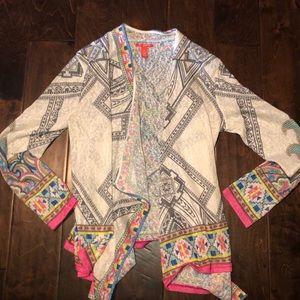 C&V Multi-color blouse overshirt.